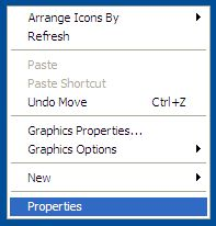 Desktop context menu