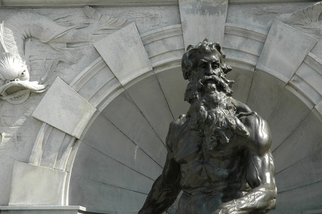 Neptune in front of The Library of Congress