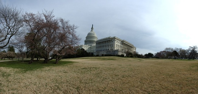 The US Capitol from the southwest