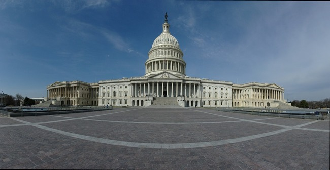 The US Capitol from the east