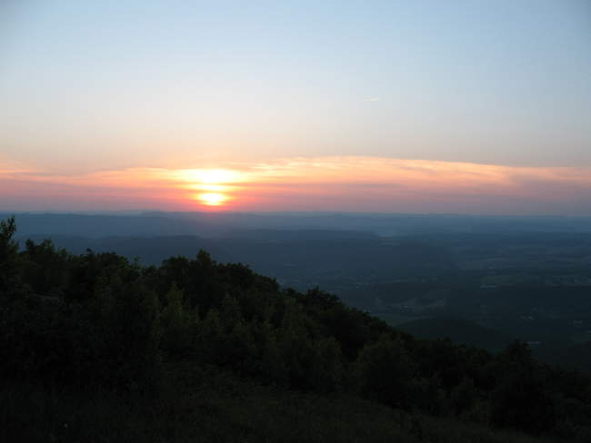 Sunset with West Virginia