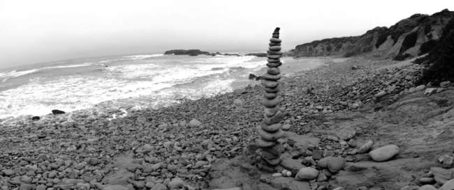 Rock stack overlooking the Pacific