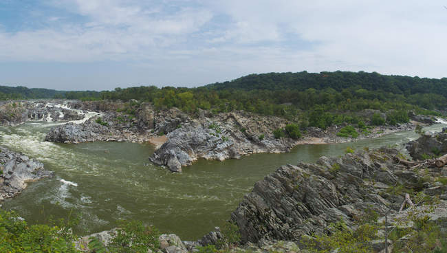 Another view of overlook three at Great Falls Park