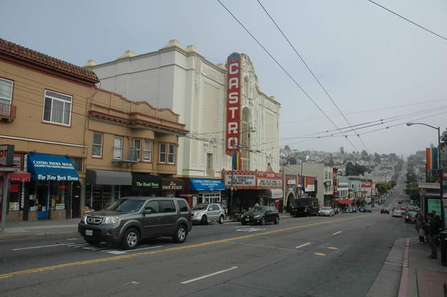 Castro Street and its iconic theater