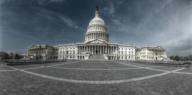 The US Capitol, seen in HDR