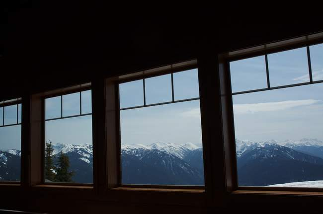 The visitor's center on top of Hurricane Ridge