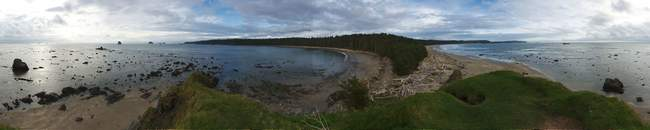 360 panorama of the outcrop at the end of Sand Point
