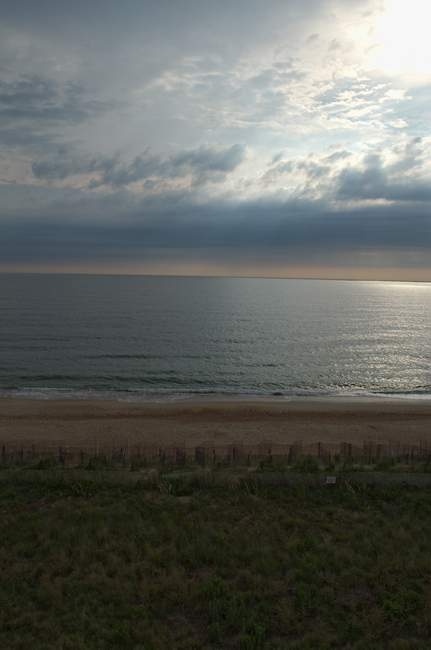 The sun rises over Kitty Hawk, NC
